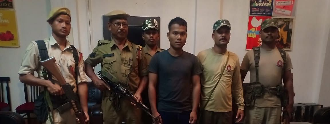 One of the two ULFA(I) rebels held in Assam's Tinsukia district