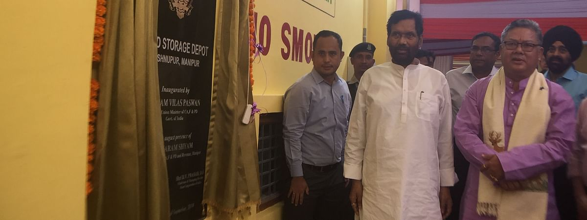 Union minister Ram Vilas Paswan inaugurated the FCI food storage depot in Manipur's Bishnupur district on Saturday