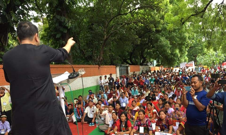 Tripura Cong holds rally in Delhi over indigenous people's rights