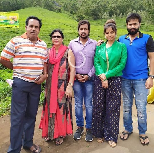 ISRO scientist (in green jacket) with her family members