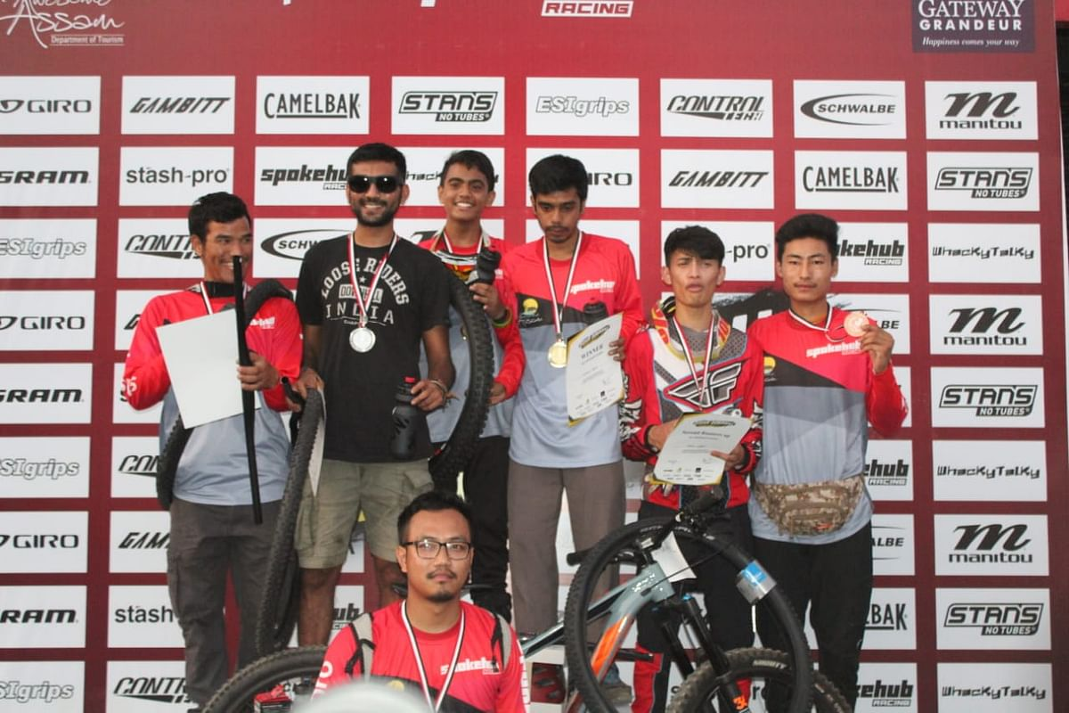 Winners of the various categories of the second edition of Assam Downhill Championship 2.0