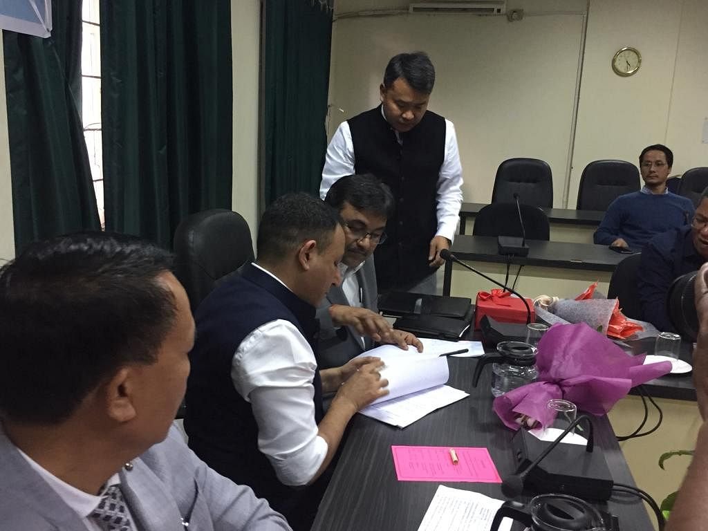 Signing of agreement between DRDO and government of Mizoram