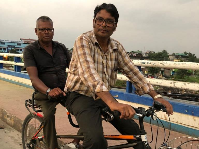 Polio-hit Debasish joins brother on bicycle to travel across India