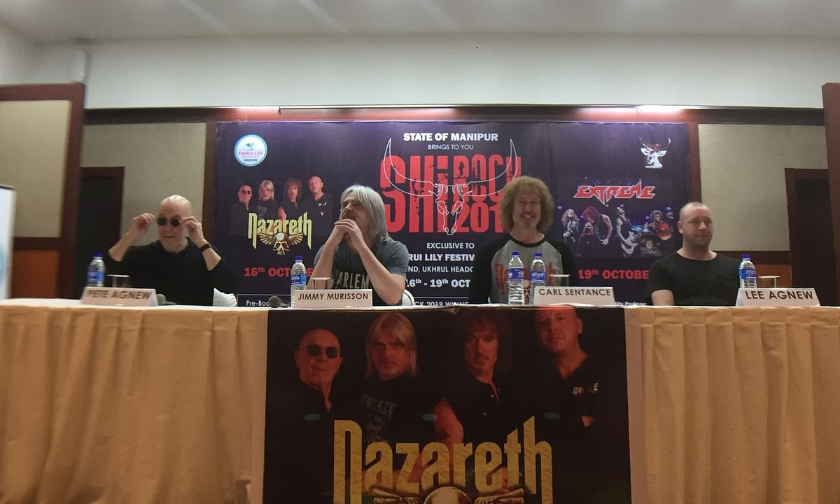 Nazareth arrives in Manipur, all set to headline Shirock today
