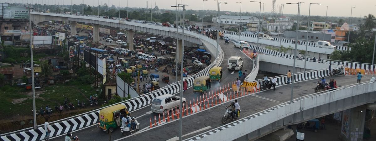The flyover was inaugurated by some differently-abled students on Friday