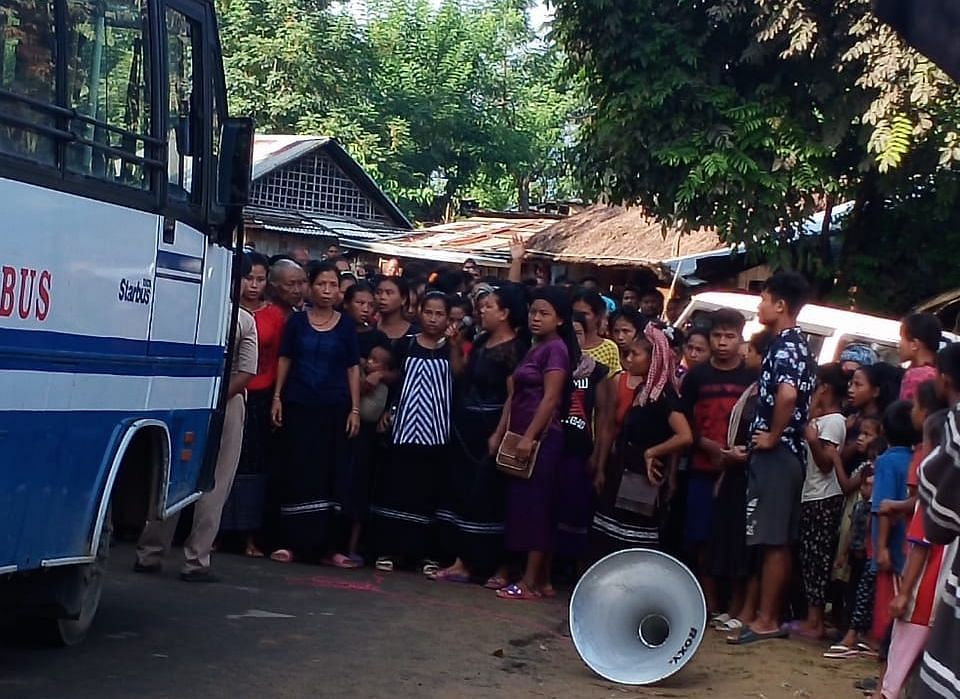 On several occasions, Bru families residing at six relief camps in Tripura staged rallies to protest against the repatriation process last year