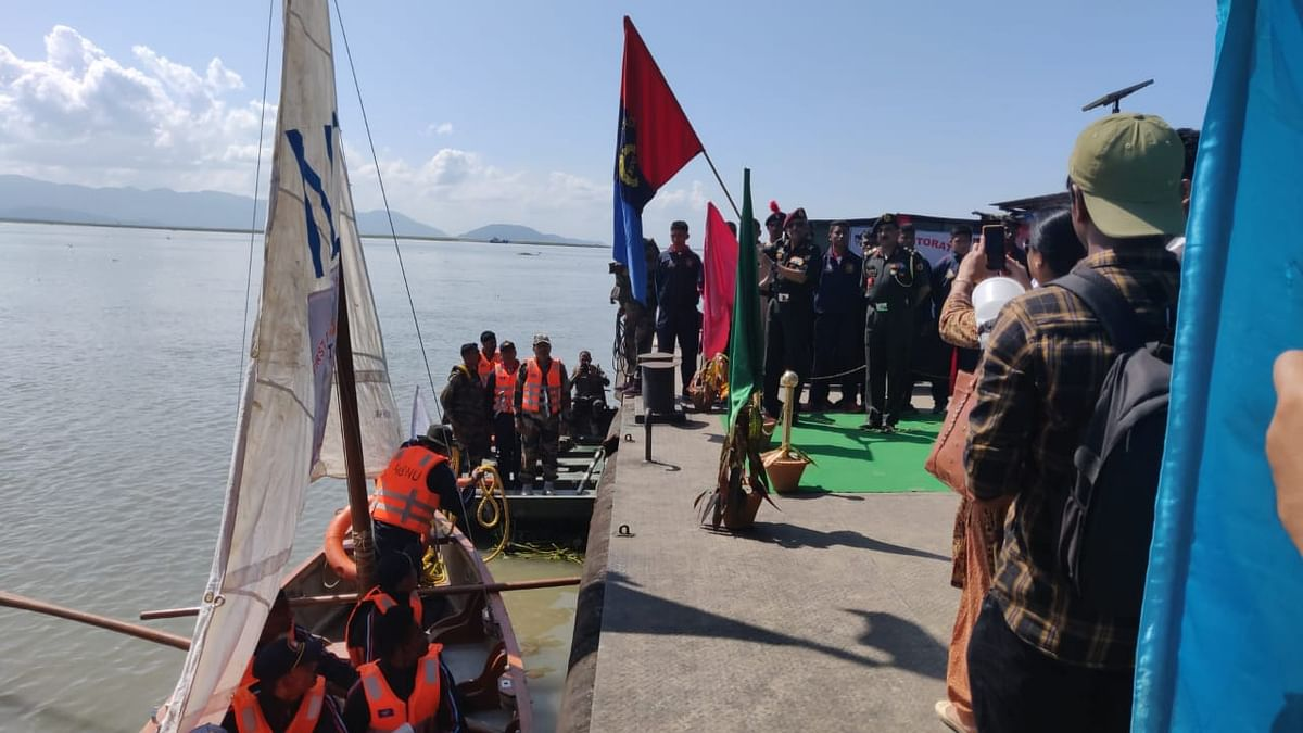 Around 60 cadets were part of the sailing expedition
