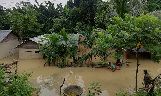Assam floods affect nearly 65,098 people; train services restored
