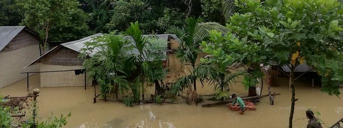 The fourth wave of floods has affected nearly 171 villages across six districts of Assam