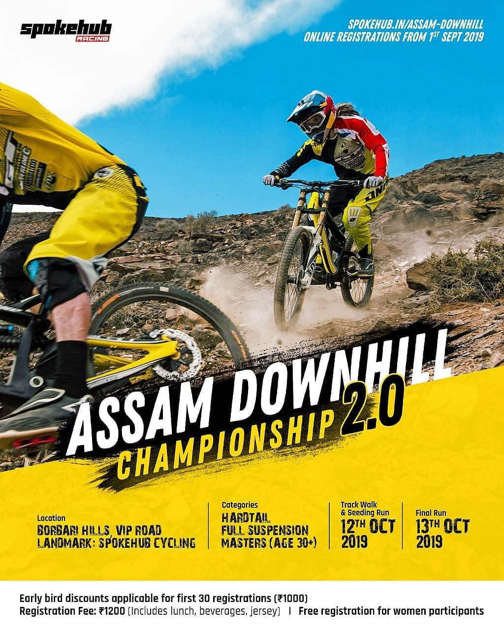 The second edition of Assam Downhill Championship 2.0 was held in Guwahati on October 12 and 13