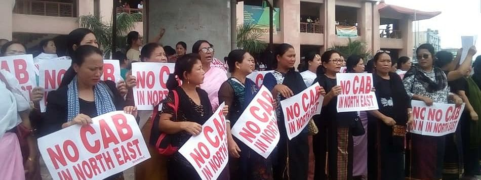 Women protesters in Imphal on Thursday