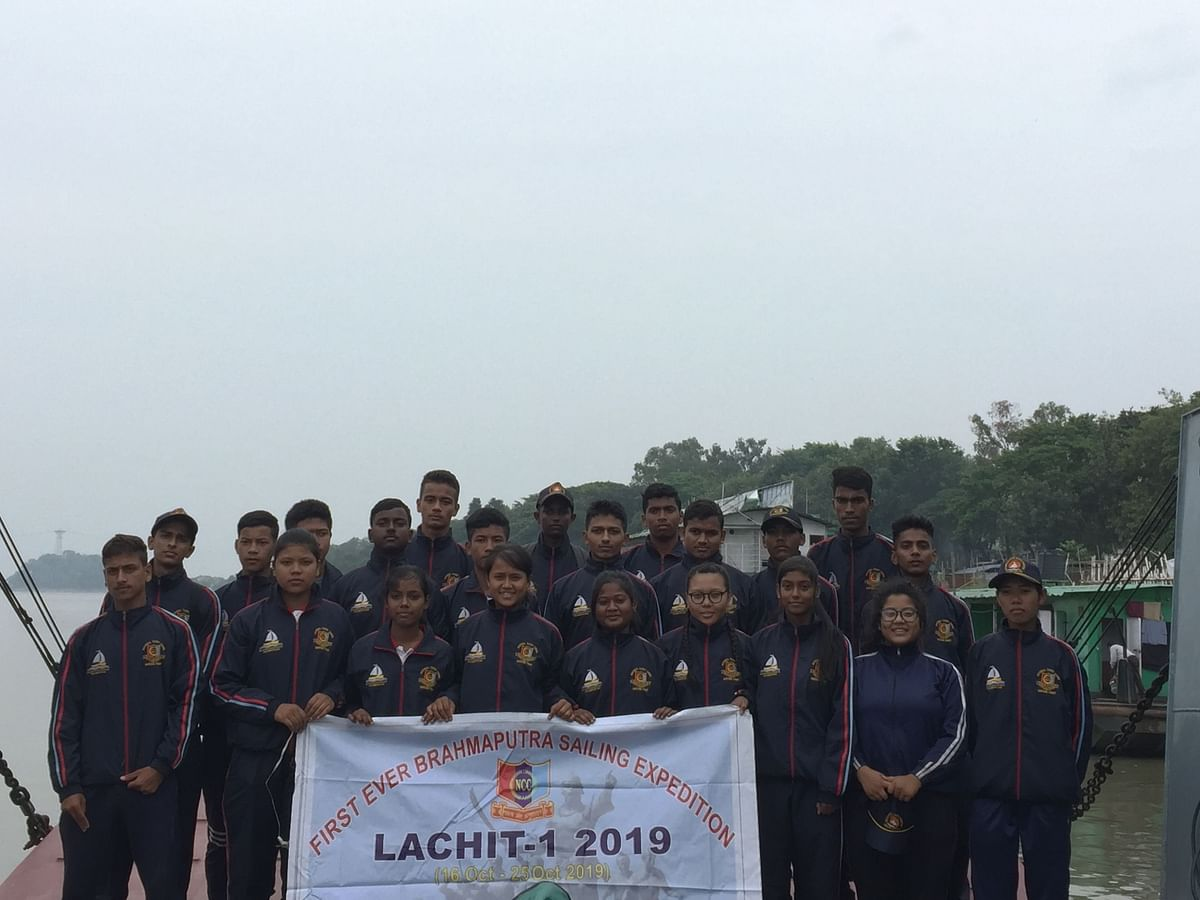 Assam NCC cadets complete maiden sailing expedition on Brahmaputra