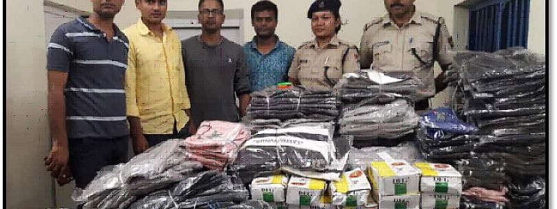 RPF personnel along with recovered contraband items