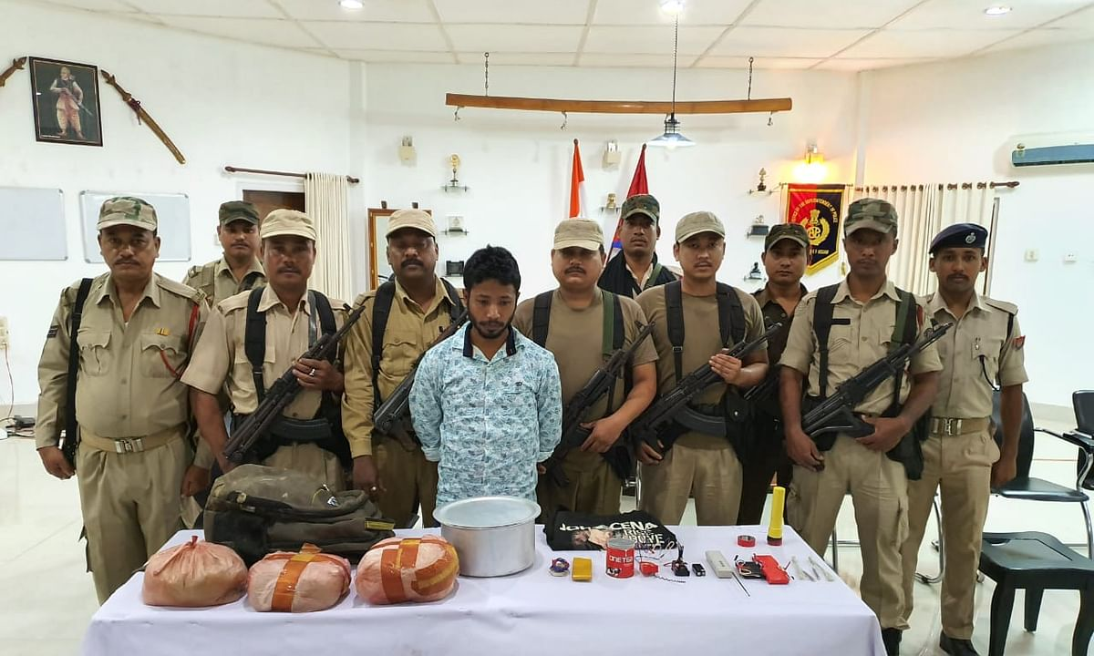 Assam: ULFA-I rebel held in Tinsukia; 12 kg explosives recovered