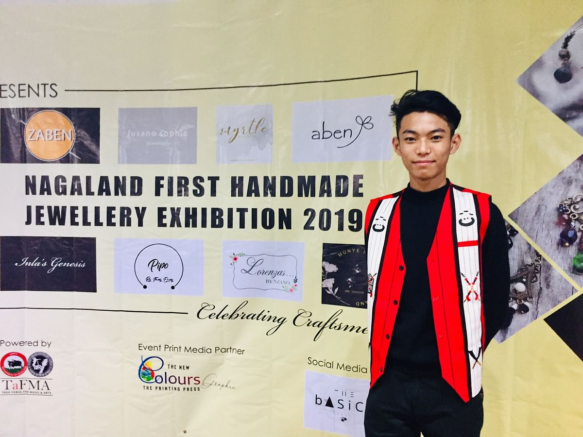 18-year-old  Thungchibemo Ezung  organised the 1st Handmade Jewellery Exhibition