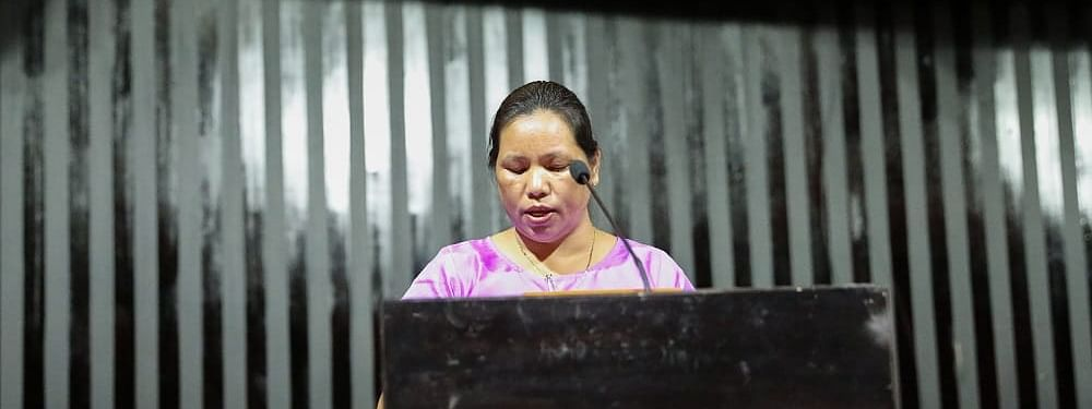 Slain MLA Tirong Aboh's widow Chakat Aboh won the recently held Khonsa West by-election in Arunachal Pradesh as an independent candidate