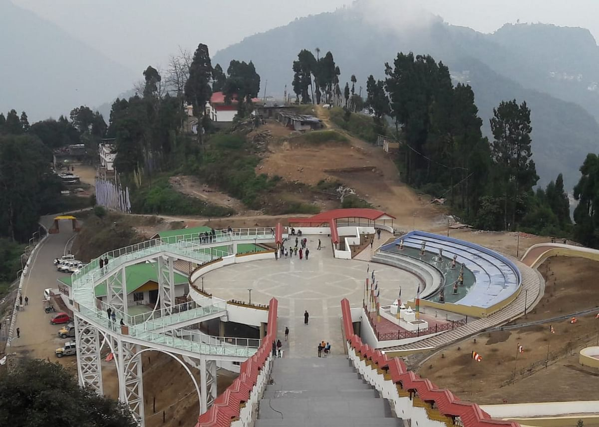 A view of the Sikkim Skywalk in Pelling