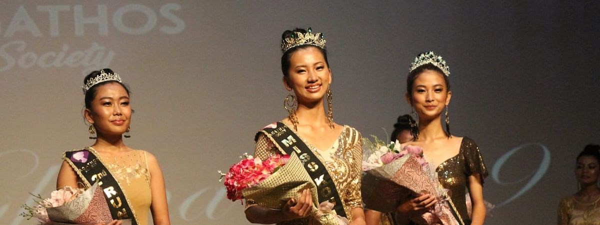 Khrielievinuo Suohu (right), 19, was adjudged as the first runner-up at Miss Kohima 2019 beauty pageant held recently
