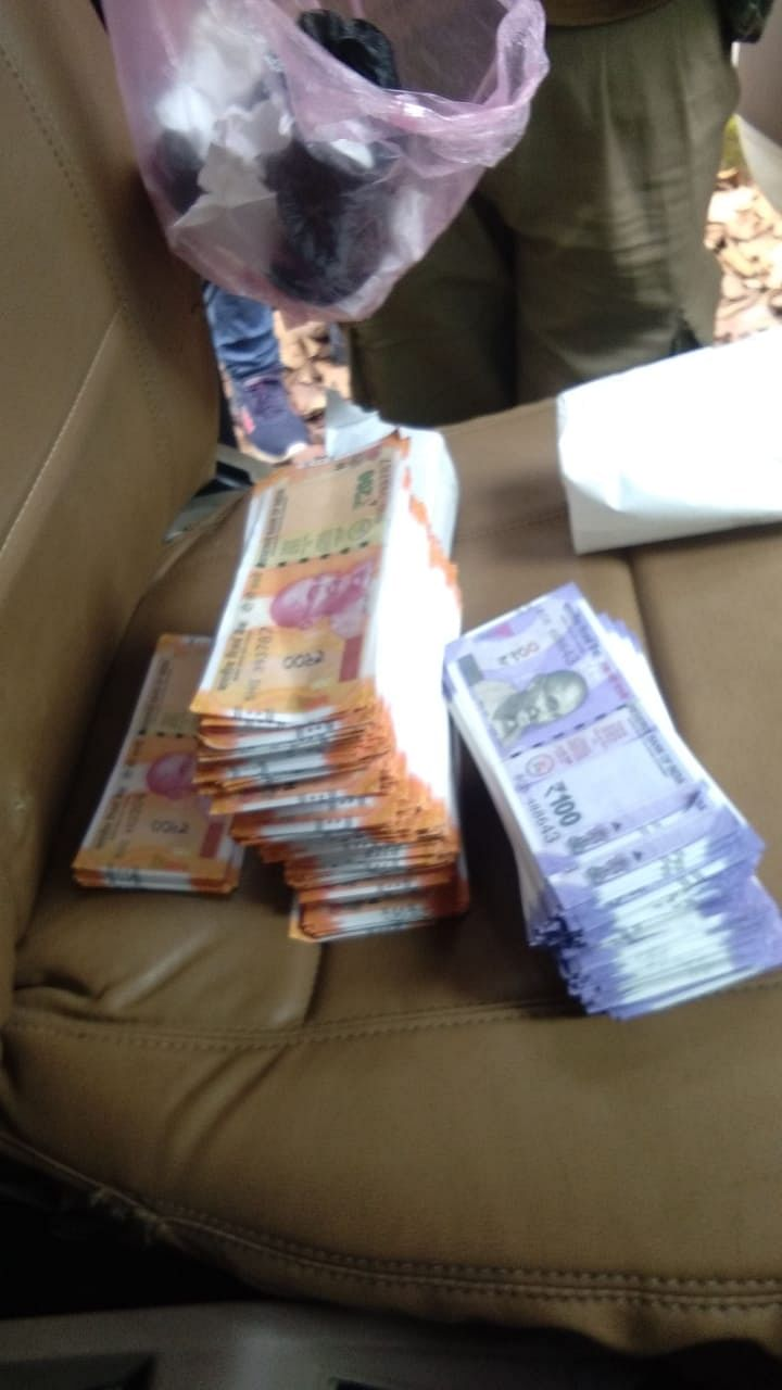 Counterfeit notes worth Rs 2,17,900 were recovered from the accused