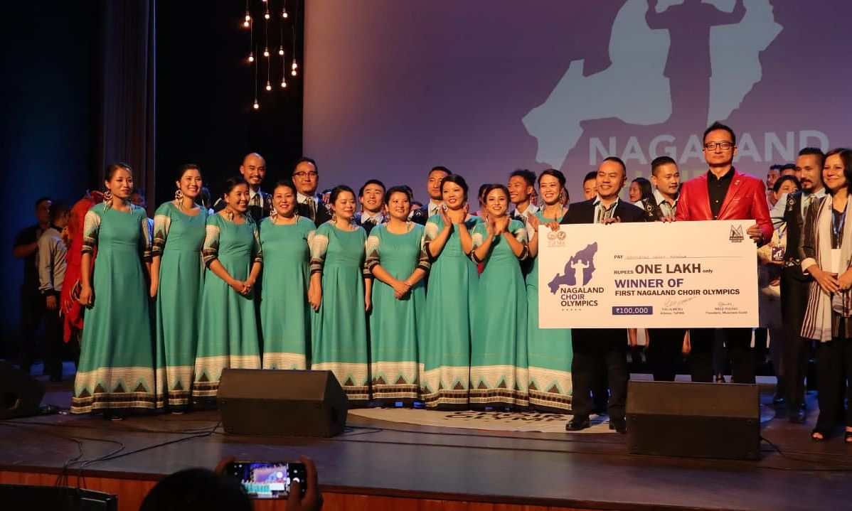 Kohima's 'Harmonic Voices' wins first Nagaland Choir Olympics