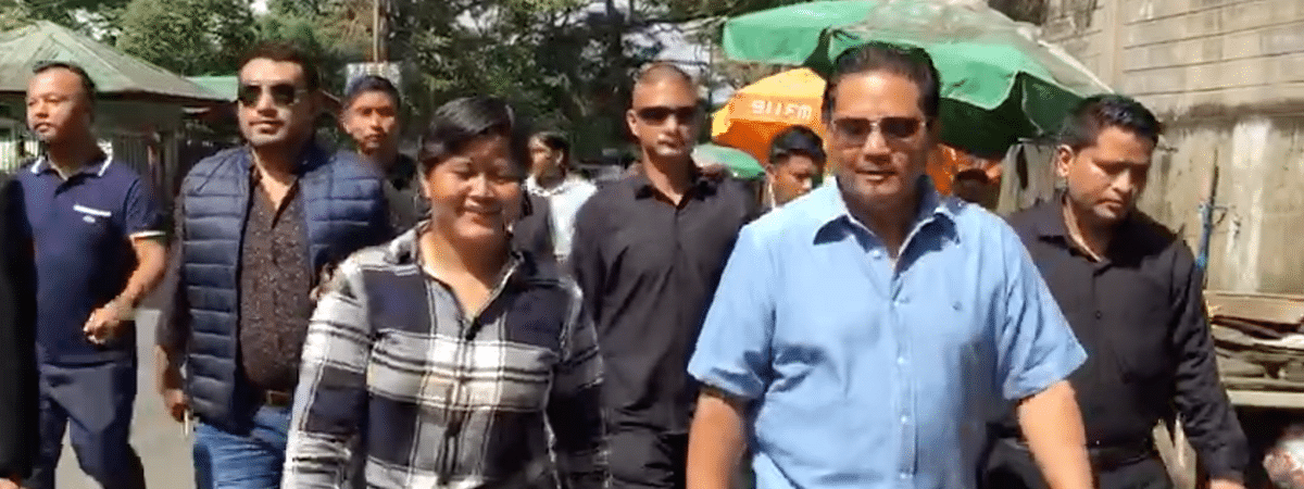 EastMojo catches up with Meghalaya CM Conrad K Sangma as he 'walks to work' in Shillong on Wednesday