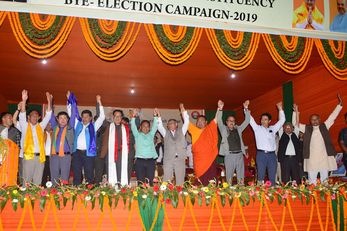 Party leaders expresses their confidence for the upcoming by-polls