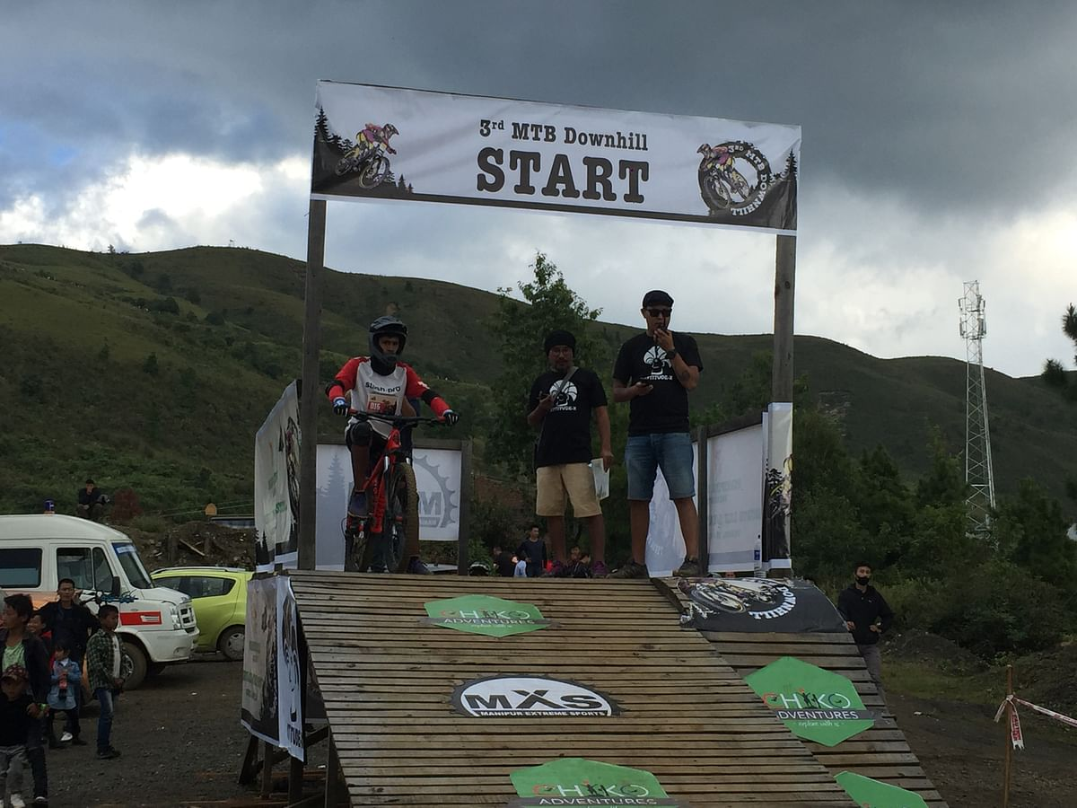 Professional racers showcase skills at 3rd MTB Downhill in Ukhrul