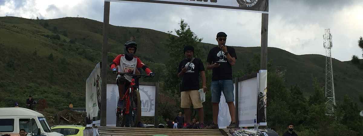 3rd MTB Downhill competition held at Jorcheng as part of the ongoing Shirui Lily Festival on Friday