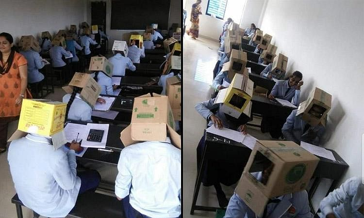 Now, 'cardboard hats' to beat cheating in Karnataka college