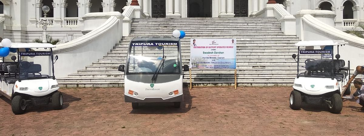 The Tripura tourism minister launched four battery-operated vehicles on Thursday