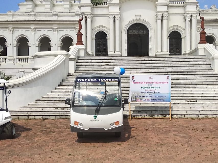 Tripura govt launches battery-operated vehicles for tourist spots