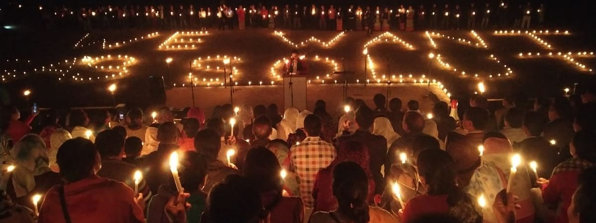 Candlelight vigil held at various places for peaceful solution to the Indo-Naga peace talks