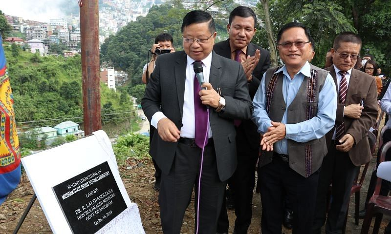 Mizoram health minister lays foundation stone for drug testing lab