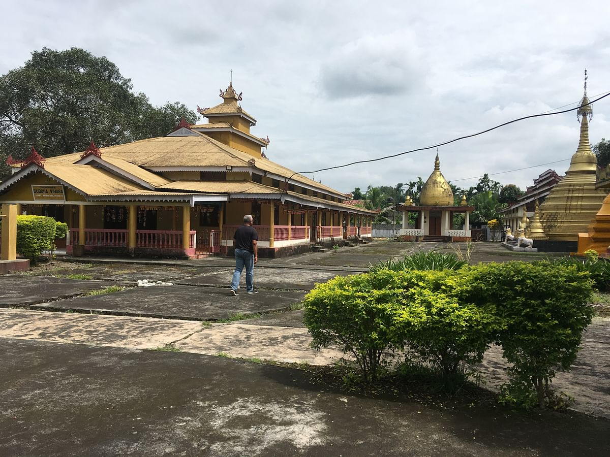 'The Golden Pagoda' Buddhist monastery situated in Namsai  falls along the Trans-Arunachal highway