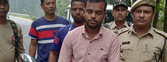 The arrested ma has been identified as Saddam Hussain (23) of Bongaigaon district