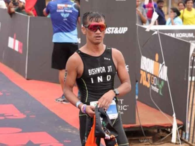 Manipur jawan creates history at India's 1st Ironman event in Goa