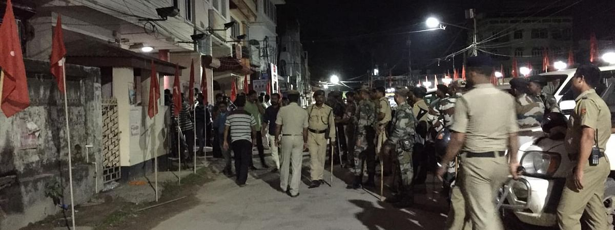 Tripura police conducting search operations in various parts of the state since Wednesday night
