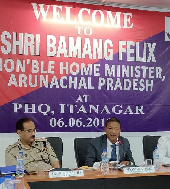 Arunachal Pradesh home minister Bamang Felix (right) will be the chairman of the consultative committee constituted for safeguarding the interests of the indigenous people of the state