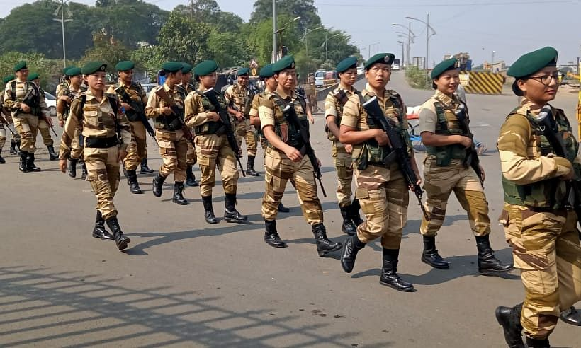 Naga policewomen stealing the show in Maharashtra ahead of polls