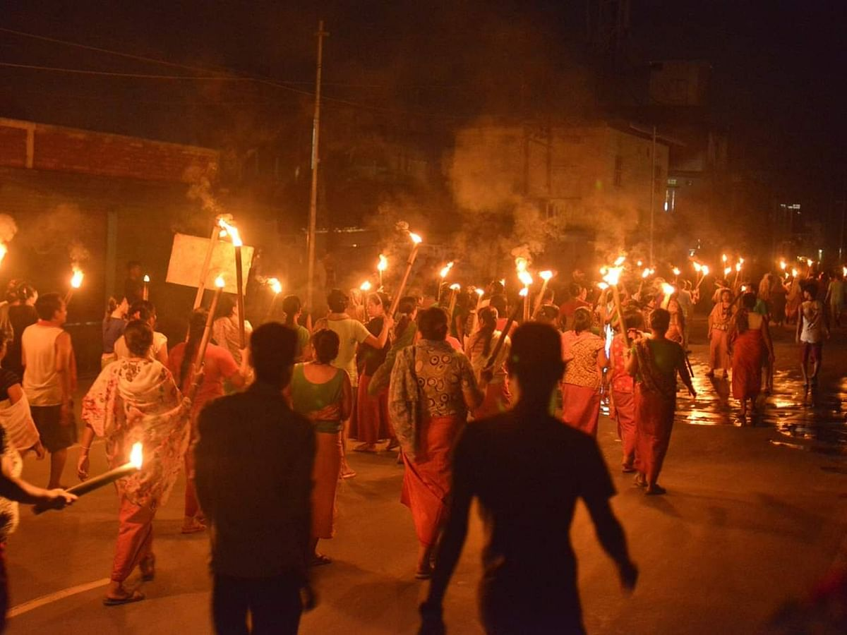 Manipur: COCOMI to continue ongoing mass protests over Naga talks
