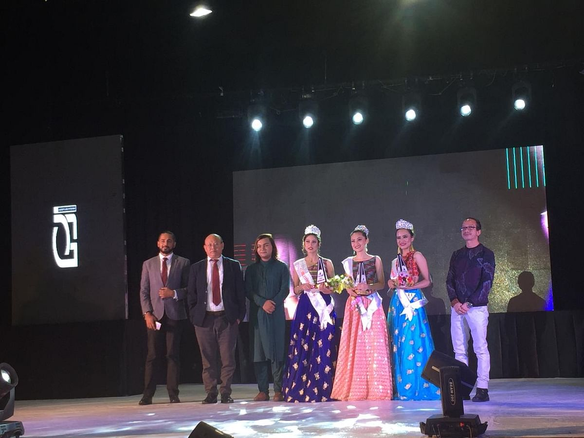 Judges with the winners of Miss Sikkim 2019