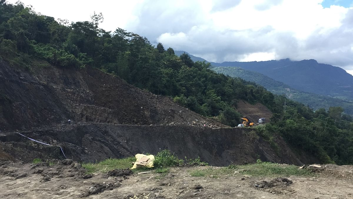 The 45-metre stretch of NH-29 along the Dimapur-Kohima link road has subsided by as much as 30 ft
