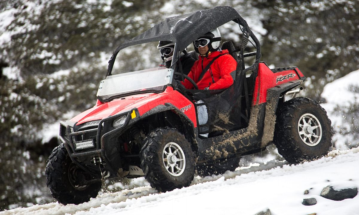 Adventurous Arunachal CM does it again, this time on a Polaris ATV