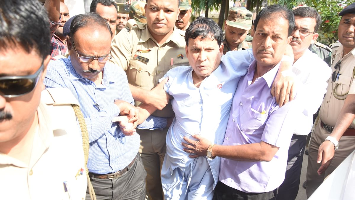 Tainted ex-Tripura minister 'dragged' from hospital bed to lockup