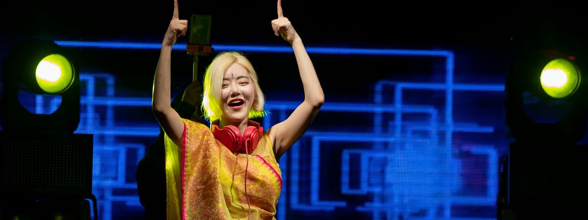 Global artiste DJ Soda from South Korea enthralling audience at Ultra EDM Imphal in Manpur late on Friday evening
