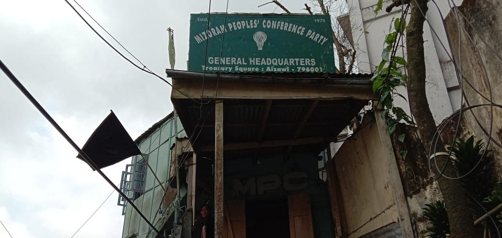 Black flag hoisted at MPC office in Aizawl during Union home minister Amit Shah's visit to Mizoram