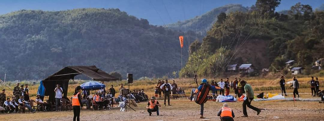 Paragliding Pre-World Cup held at Serchhip in 2018