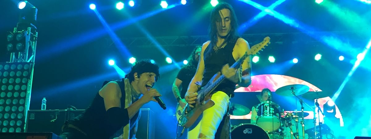 US rock band Extreme performing at ShiRock 2019 in Ukhrul district, Manipur on Saturday