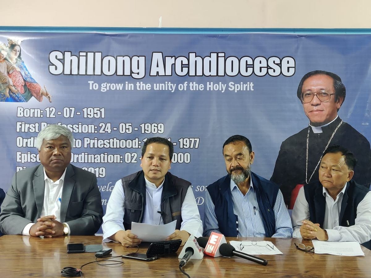Mortal remains will be kept in Cathedral Church in Shillong for faithfuls to pay their tributes