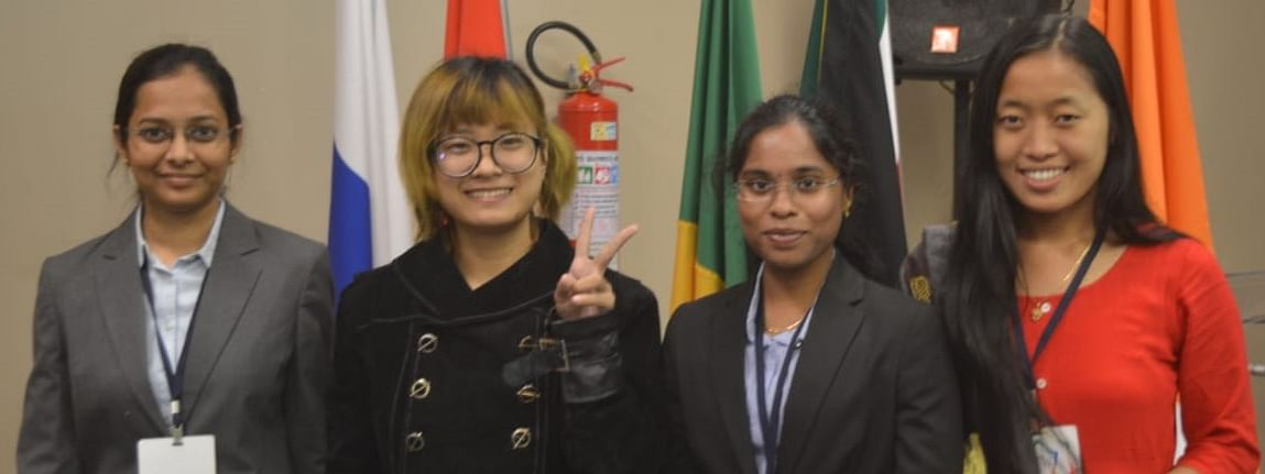 Junnu Pinggam and Lombi Dakpe were among the 15 delegates who represented India at the recently concluded BRICS summit